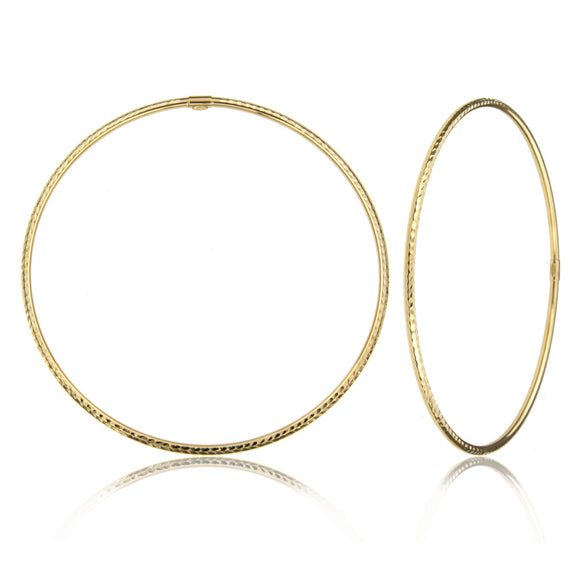 Dainty 14k Yellow Gold Bangle