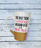 The Only Thing Resting Around Here Coffee Cup // Glitter Coffee Cup // Cute Coffee Cup