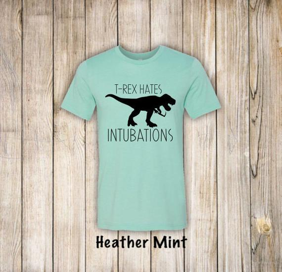 Shirt: T-Rex Hates Intubations