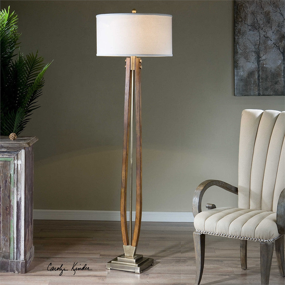 Uttermost Boydton Burnished Wood Floor Lamp