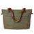 Diaper Bag Canvas with Leather Women Tote Bag Shoulder Bag Handbag 14022
