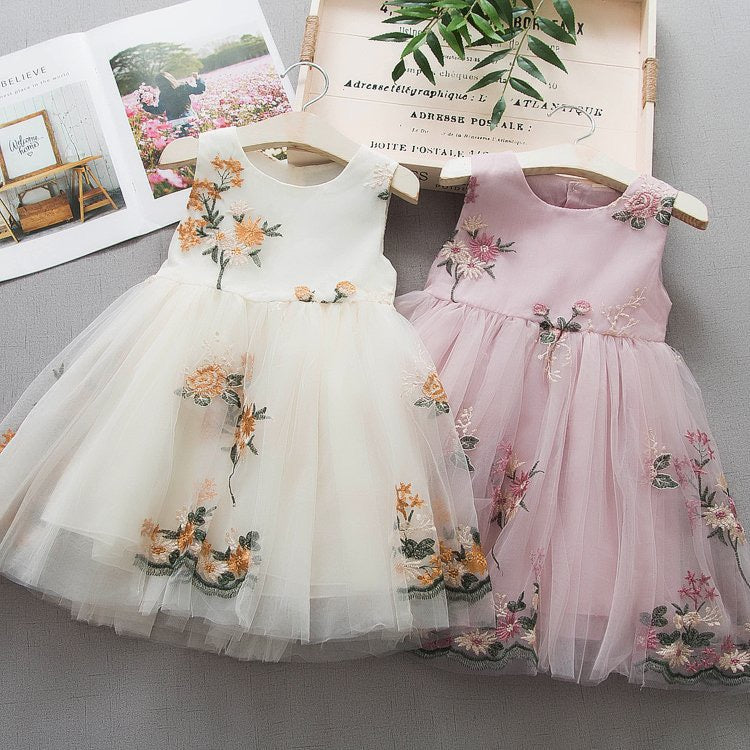 Flower Embroidered Party Dress