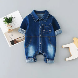 Denim Buttoned Jumpsuit