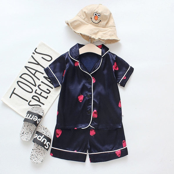 Strawberry Printed Night Suit
