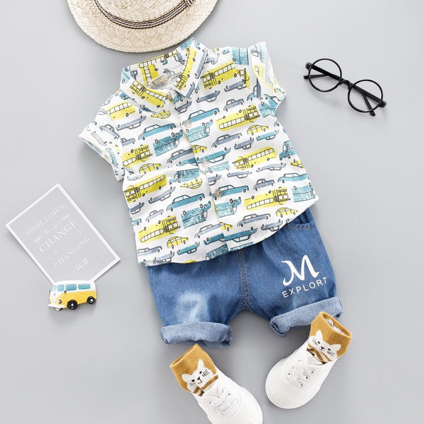 Printed Shirt Summer Set