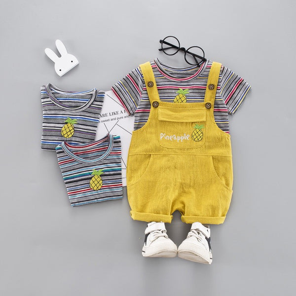 Pineapple Dungaree Summer Set