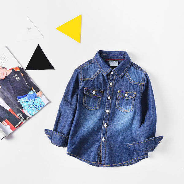 Double Pocket Denim Shirt