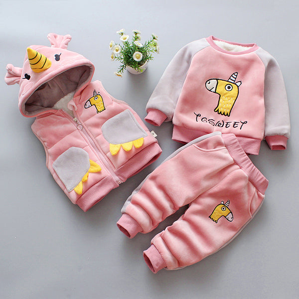 Unicorn Made Winter Set With Hooded West