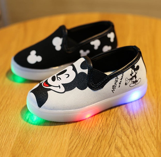 Mismatched Mickey Led Shoes