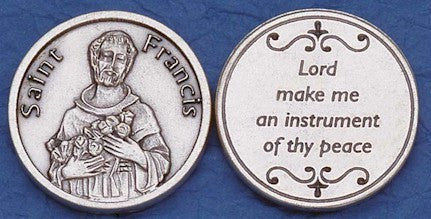 St. Francis Religious Pocket Coin