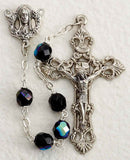 Hematite Glass Bead Rosary