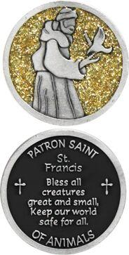 St. Francis Enameled Pocket Coin - Pack of 12