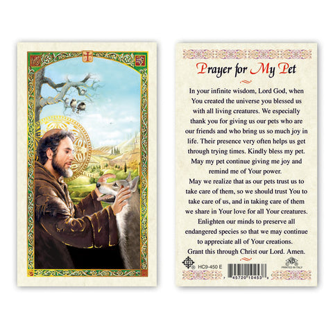 St. Francis Prayer for My Pet