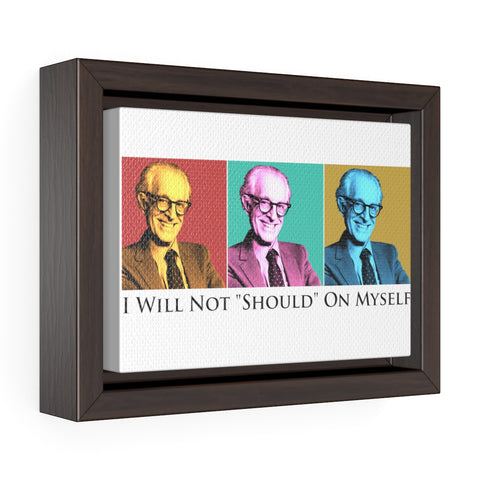Albert Ellis Horizontal Framed Premium Gallery Wrap Canvas