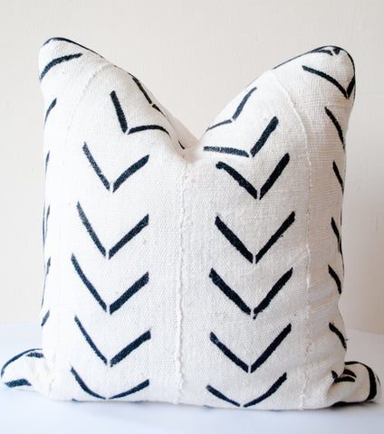 vintage african mudcloth pillow