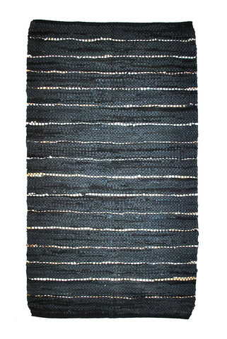 black-gold-leather-accent-rug