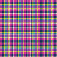 """Bubblegum Plaid"" - Pattern Vinyl and Heat Transfer Vinyl"