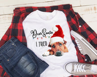 """Dear Santa I Tried""- Ready to Press Heat Transfer"