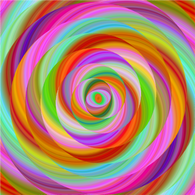 """Lollipop Rainbow Swirl""  Pattern Craft Vinyl and Heat Transfer Vinyl Sheet"