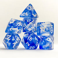 Blue Space Dice - 7 Polyhedral Set (Polyresin)