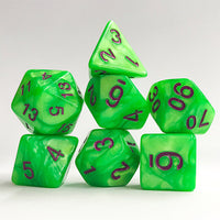 Electric Green Pearl - 7 Polyhedral Set (Acrylic)
