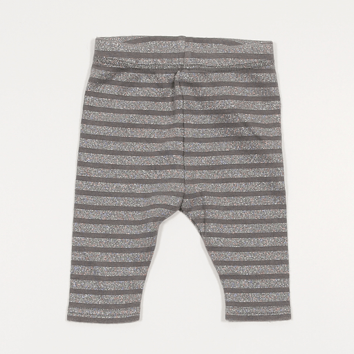 Girls Leggings - 00-00 Sparkle Stripe Leggings