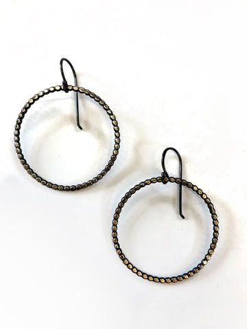 Handmade Big Dotted Circle Earrings