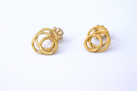 Handmade 18k Gold Vermeil Galaxy Posts