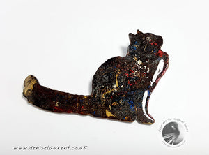 A Maine Coon Cat Brooch