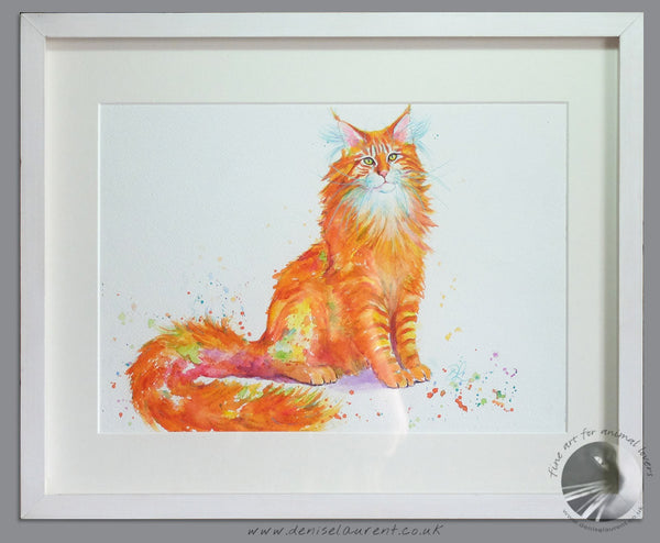 "Big Red Boy - 16x12"" Framed Watercolour Painting"