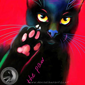 Talk To The Paw - Black Cat Print