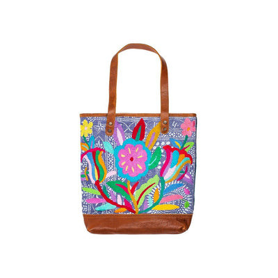 Otomi Flores Tote Tote WillLeatherGoods 24