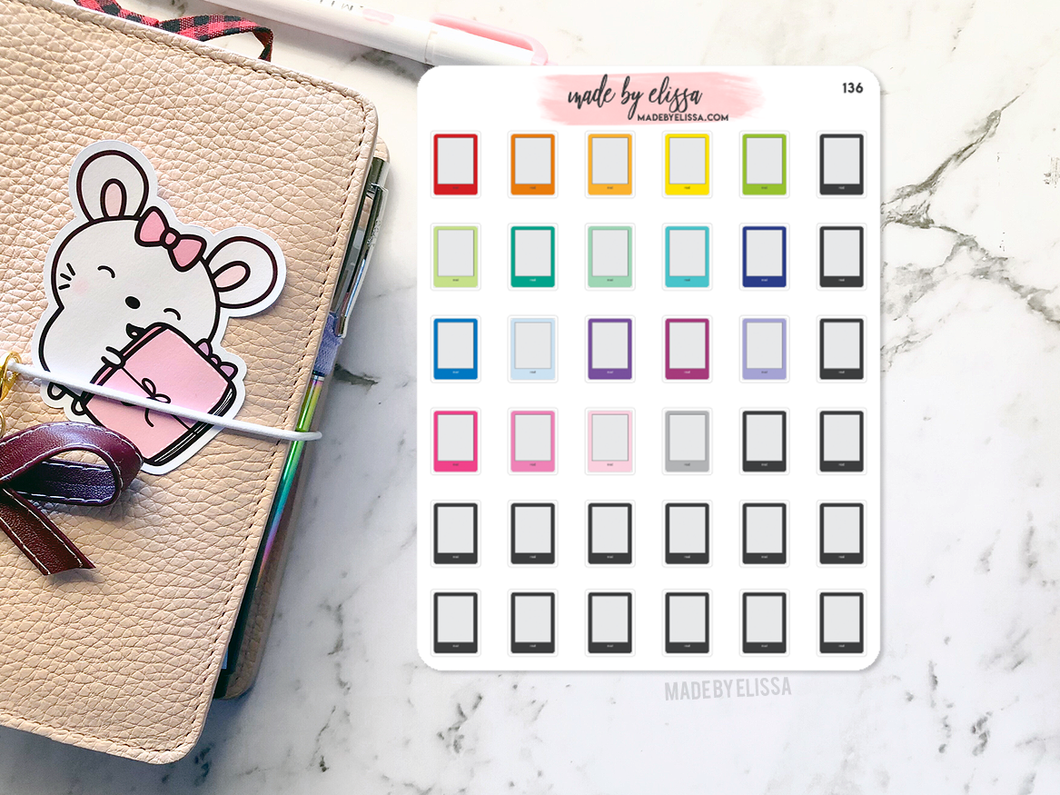 E-Reader Icon Planner Stickers