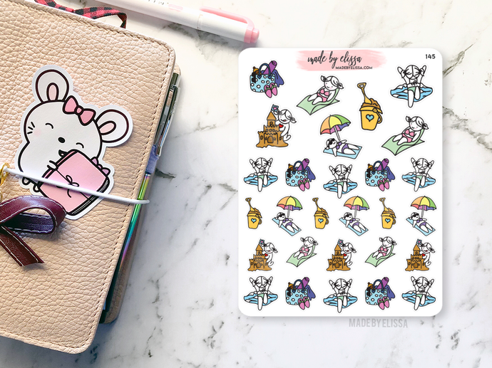 Beach Lacey // Planner Stickers