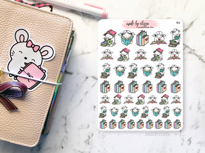 Book Lover Lacey // Planner Stickers