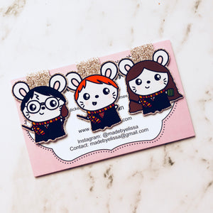 Ruby Potter Magnetic Bookmarks