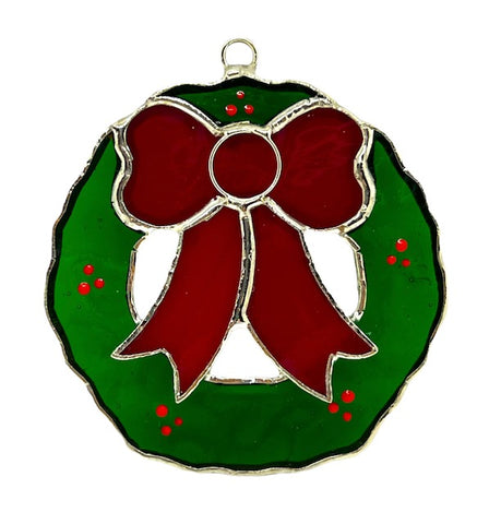 Glass Cover- Holiday Wreath
