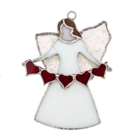 Glass Cover- The Angel Gabriel with Heart and Garland 3-Pack