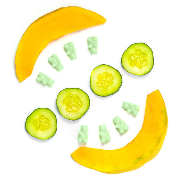 Cucumber Melon 2 Oz. Sample Pouch - Fun shapes make mixing and melting a breeze!