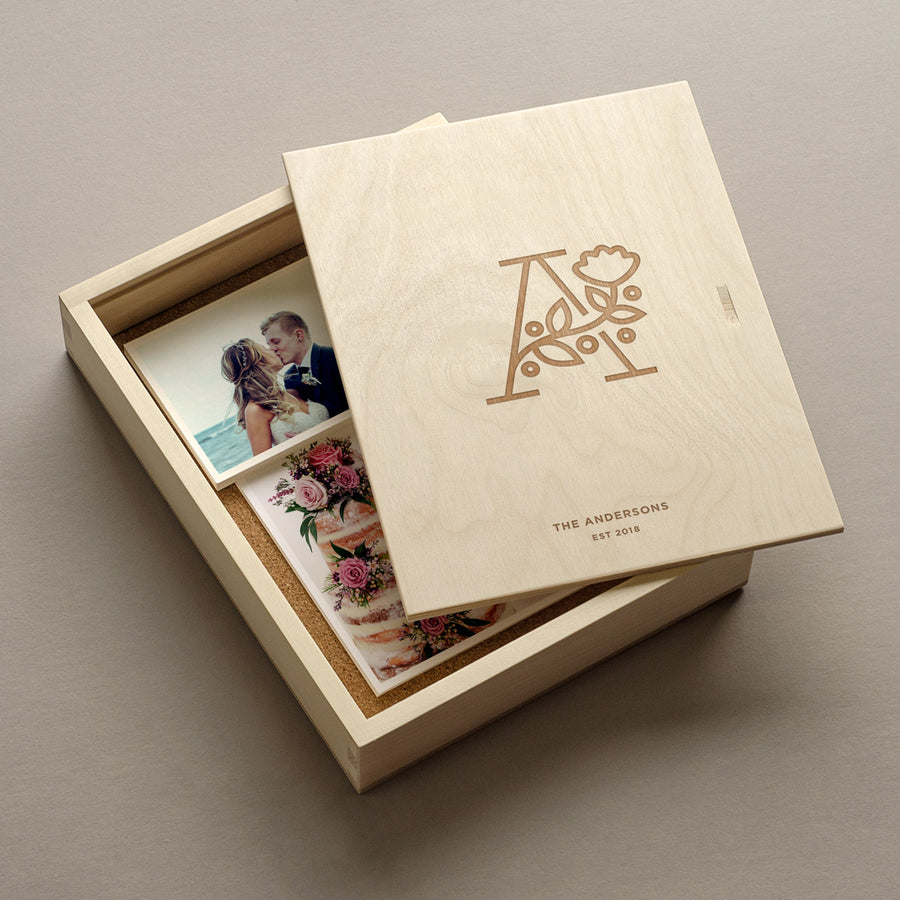 The Botanist - Keepsake Photo Box with photos