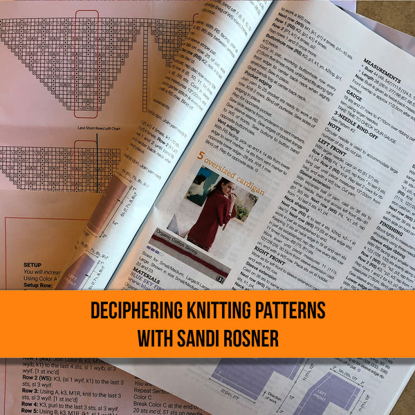 Deciphering Knitting Patterns - ONE SESSION