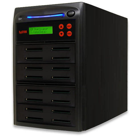 SySTOR 1:15  Multiple Compact Flash CF Memory Card Duplicator / Sanitizer - (SYS-CFD-15)