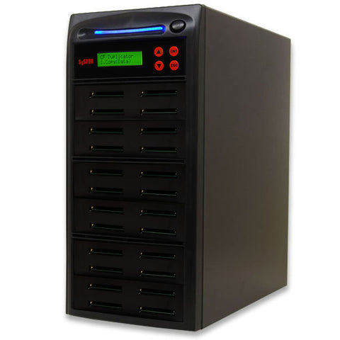 SySTOR 1:23  Multiple Compact Flash CF Memory Card Duplicator / Sanitizer - (SYS-CFD-23)