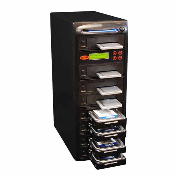 "SySTOR 1 to 7 SATA 2.5"" & 3.5"" Dual Port/Hot Swap Hard Disk Drive / Solid State Drive (HDD/SSD) Duplicator/Sanitizer - High Speed (600MB/sec) (SYS607DP)"