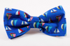 Nautical Sailboat Dog Bow Tie Collar