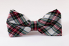 Preppy Christmas Tartan Plaid Bow Tie Dog Collar