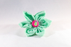 Pink and Green Seersucker Pineapple Girl Dog Flower Bow Tie Collar