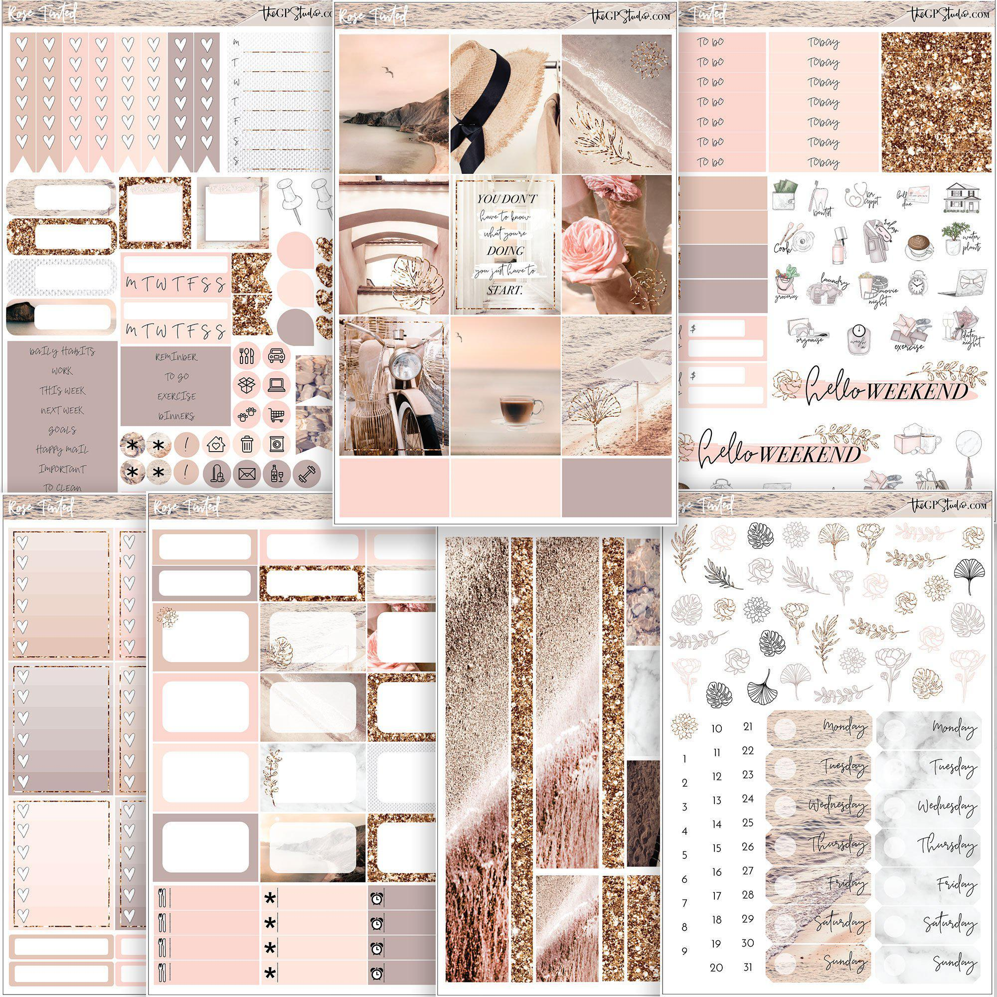 ROSE TINTED Planner Sticker Kit-The GP Studio