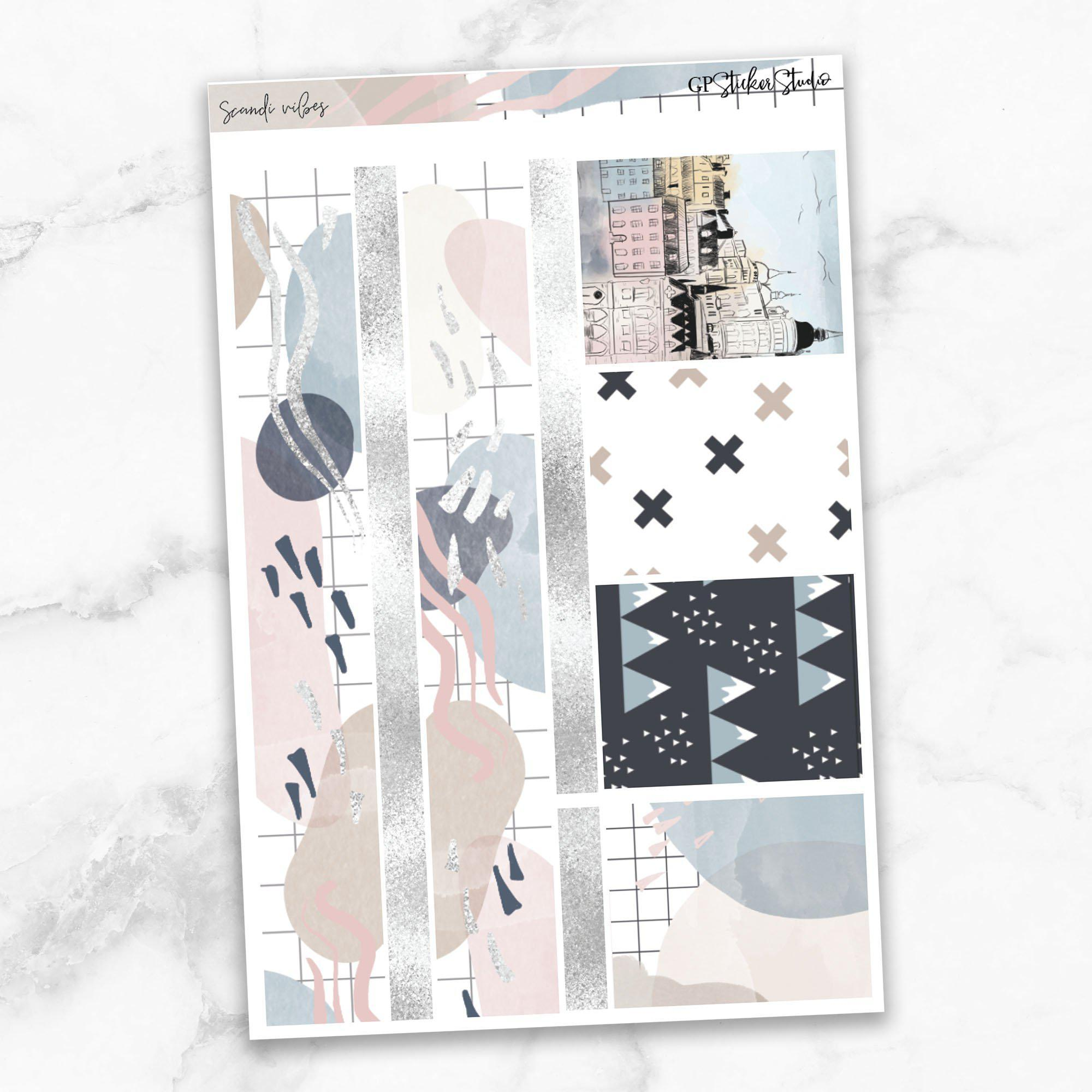 SCANDI VIBES Washi Sheet Stickers-The GP Studio