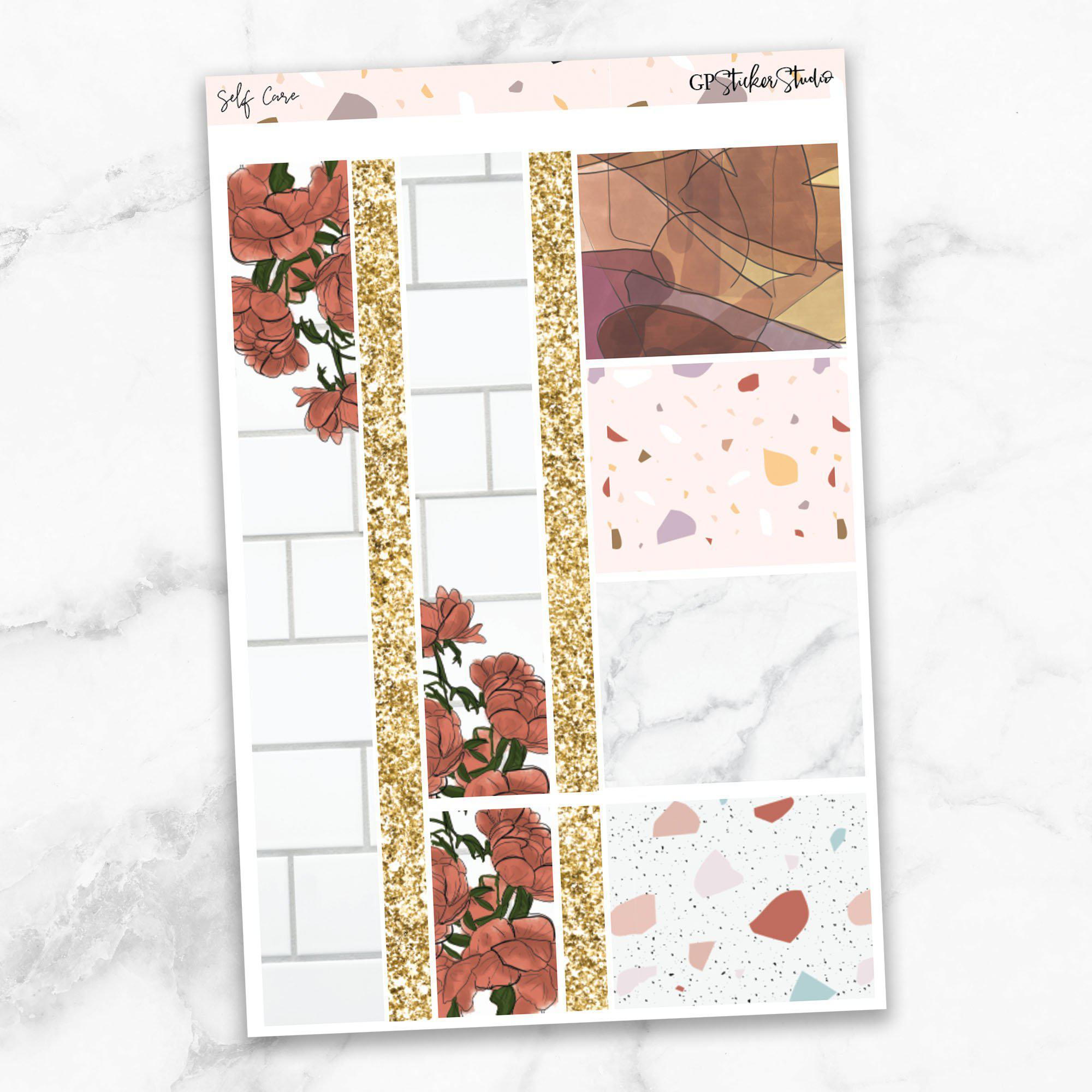 SELF CARE Washi Sheet Stickers-The GP Studio